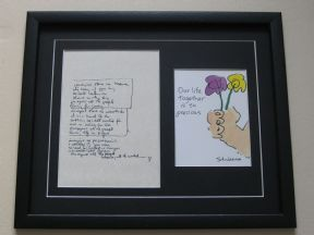 JOHN LENNON - IMAGINE HAND WRITTEN LYRICS - OUR LIFE TOGETHER PRINT